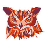 Owl head vector isolated, geometric modern illustration. Owl head vector isolated, geometric modern illustration Stock Images