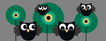 Owl header Stock Image