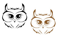 Owl heads Stock Photos