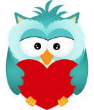 Owl with Heart Royalty Free Stock Photo