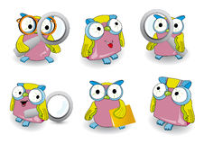 Owl icon Royalty Free Stock Photos