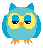 OWL ICON Royalty Free Stock Images