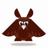 Owl icon in brown color Royalty Free Stock Photo