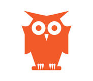 Owl Icon Design Stock Photography