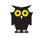 Owl Icon Design Stock Images