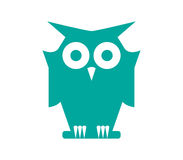 Owl Icon Design Stock Photo