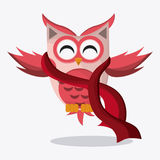 Owl icon design Royalty Free Stock Photography