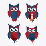 Owl icon design Royalty Free Stock Photos