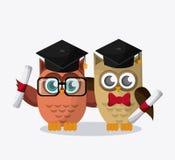 Owl icon design Royalty Free Stock Photography