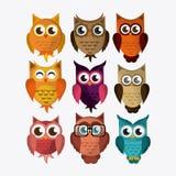 Owl icon design Stock Photos