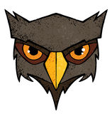 Owl illustration. Cartoon owl illustration with color and texture Stock Image