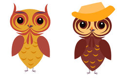 Owl illustration Royalty Free Stock Photos