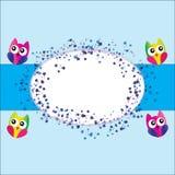 Owl invitation Stock Photos