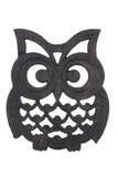 Owl Iron Rest. On white background Stock Photography