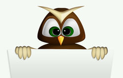 The owl and its panel Royalty Free Stock Image