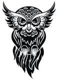 owl kontrollera designbilden min liknande tatuering för portföljen Arkivbild