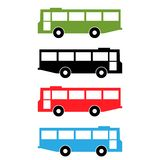 Bus icon, flat design, colorful bus, vector. EPS file available. see more images related stock illustration