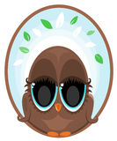 Owl Logo. Illustration of an brown owl logo Royalty Free Stock Images