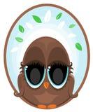 Owl Logo. Illustration of an brown owl logo vector illustration