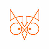 Owl Logo Fotografia Stock
