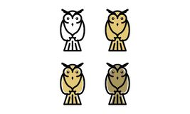 Owl Logo Imagen de archivo
