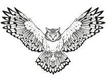 Owl Logo Lizenzfreie Stockfotos