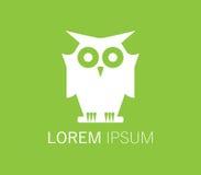 Owl Logo Design Fotografie Stock