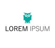 Owl Logo Design Fotografie Stock Libere da Diritti