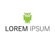 Owl Logo Design Immagine Stock Libera da Diritti