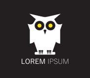 Owl Logo Design Fotografia Stock Libera da Diritti