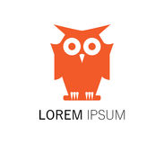 Owl Logo Design Royalty Free Stock Photo