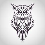 Owl logo stock photo