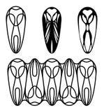 Owl Logo en Ornament Stock Afbeeldingen