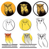 Owl Logo Set Royalty Free Stock Image