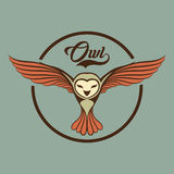 Owl logo Royalty Free Stock Photo
