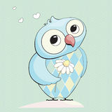 Owl in love. Cute and lovely vector owl Royalty Free Stock Photos
