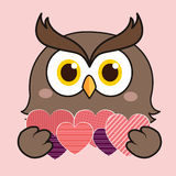 Owl with love Stock Photo