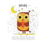 Owl in love. Stock Photos