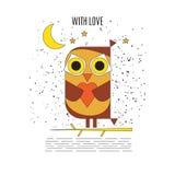 Owl in love. Stock Photos
