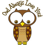 Owl Always Love You Royalty Free Stock Photos