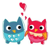 Owl lover i love you Royalty Free Stock Image