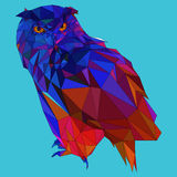 Owl low poly design Stock Photos