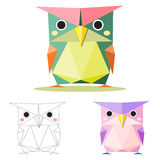 Owl low polygon Stock Image