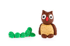 Owl made of plasticine Royalty Free Stock Photography