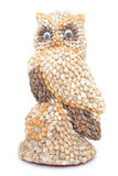Owl made ​​with shells Royalty Free Stock Images