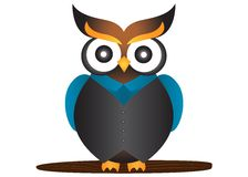 Owl Mascot royaltyfri illustrationer