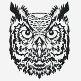 Owl Mascot head, Character Illustration. vector Stock Photos