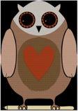 Owl mat Royalty Free Stock Photography