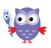 Owl Mirror Royalty Free Stock Images