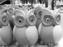 Owl: money box black and white royalty free stock photos